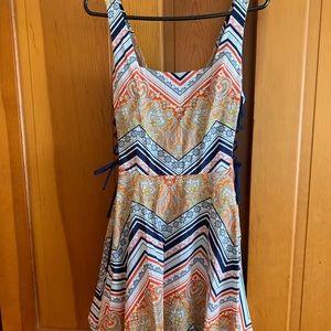 Bailey Blue Dress w/ matching short sleeve sweater